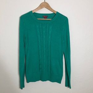 A7 Merona Green Sweater Cotton/Rayon